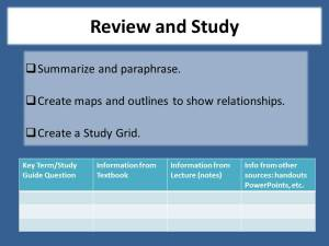 Review and study.