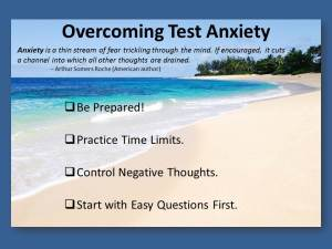Overcoming test anxiety.
