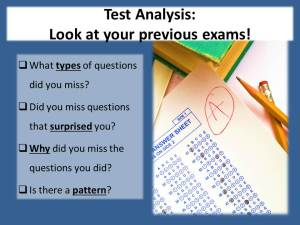Test analysis.